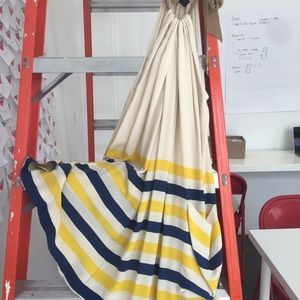 Color block, silk summer mini-dress.